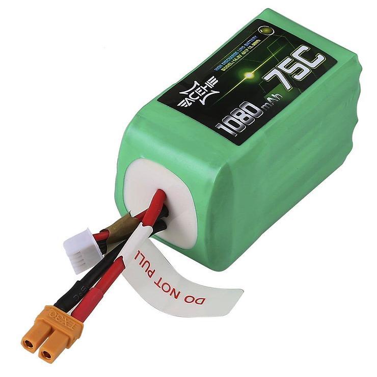 Acehe LiPo 1080mAh 4S 75C XT30 Racing Serie Batterie - Pic 1
