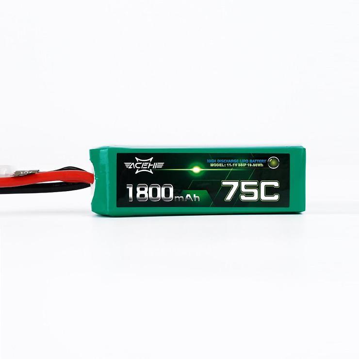 Acehe LiPo 1800mAh 3S 75C Racing Serie Batterie - Pic 1