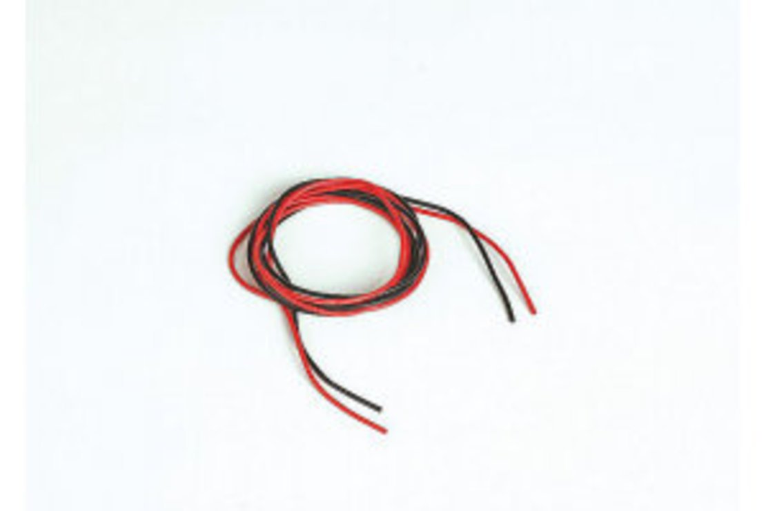 Graupner Silikonkabel 0,5 qmm 1m rot/sw 20 AWG