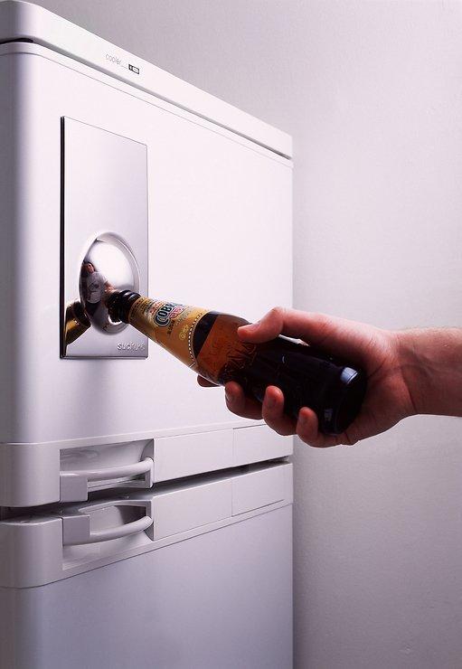Suck UK Flaschenöffner Bottle Opener Fridge Magnet silber