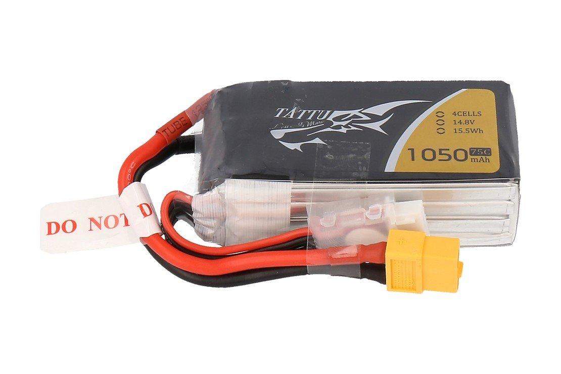 Tattu LiPo 1050mAh 4S1P 75C 14.8V Akku Batterie - Pic 1