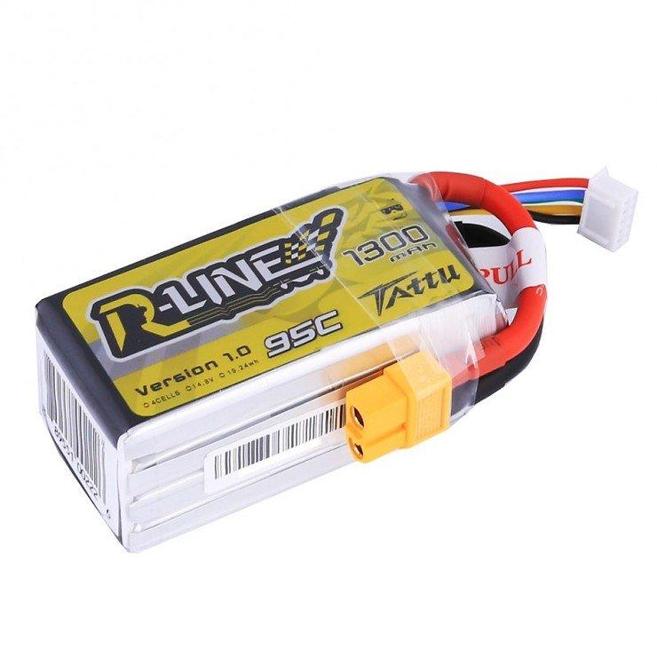 Tattu R-Line LiPo 1300mAh 4S1P 95C 14.8V Akku Batterie - Pic 1